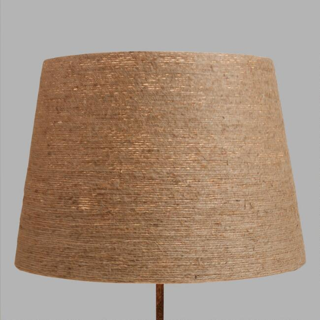 Twine wrapped table lamp shade world market aloadofball Image collections