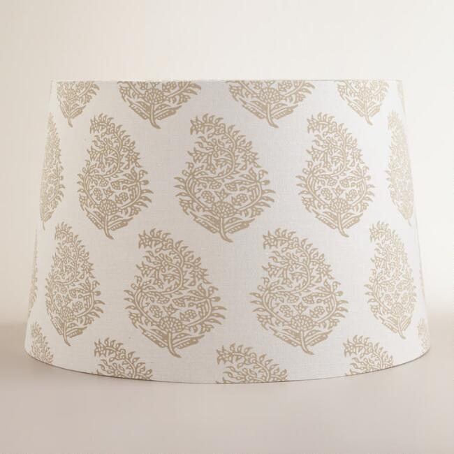 Natural Paisley Floor Lamp Shade