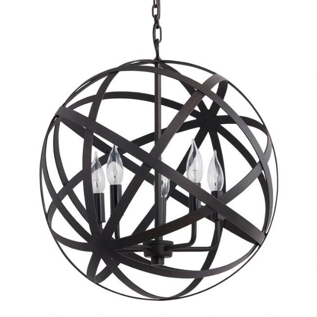 Metal orb chandelier world market aloadofball Images