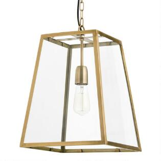 Pendant lighting light fixtures chandeliers world market four sided glass hanging pendant lantern mozeypictures Gallery