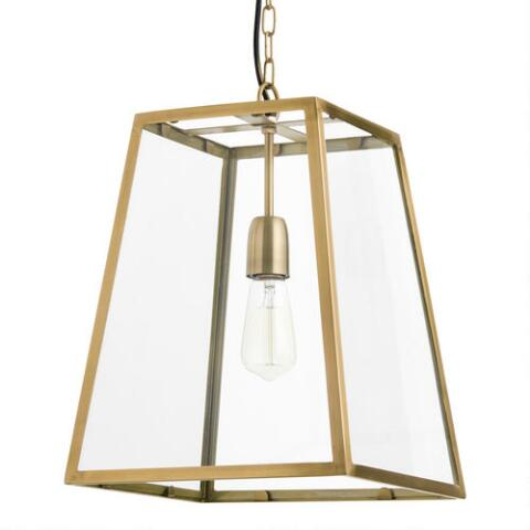 Four Sided Gl Hanging Pendant Lamp