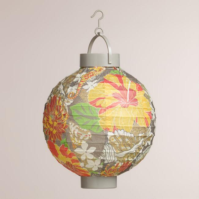 Seashell Battery-Operated Paper Lanterns, Set of 4