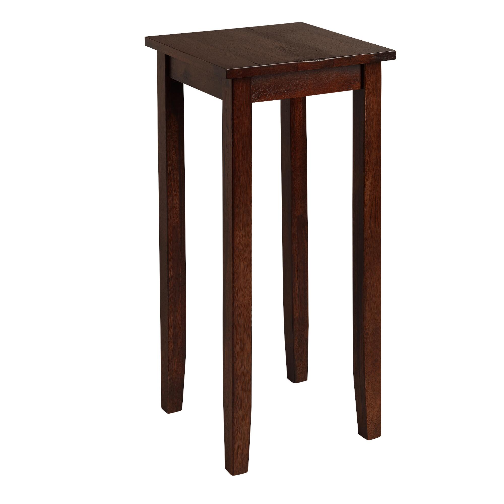 cost plus world market tall mahogany chloe accent table. Black Bedroom Furniture Sets. Home Design Ideas