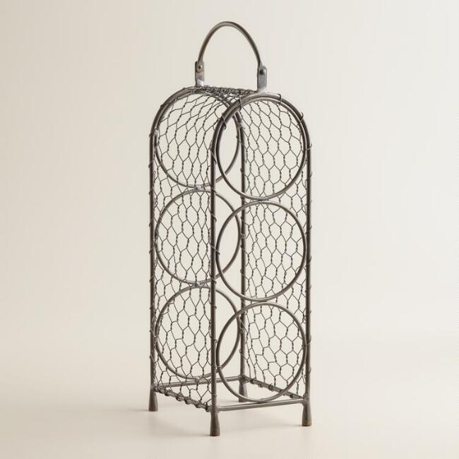 Chicken Wire 3-Bottle Wine Caddy