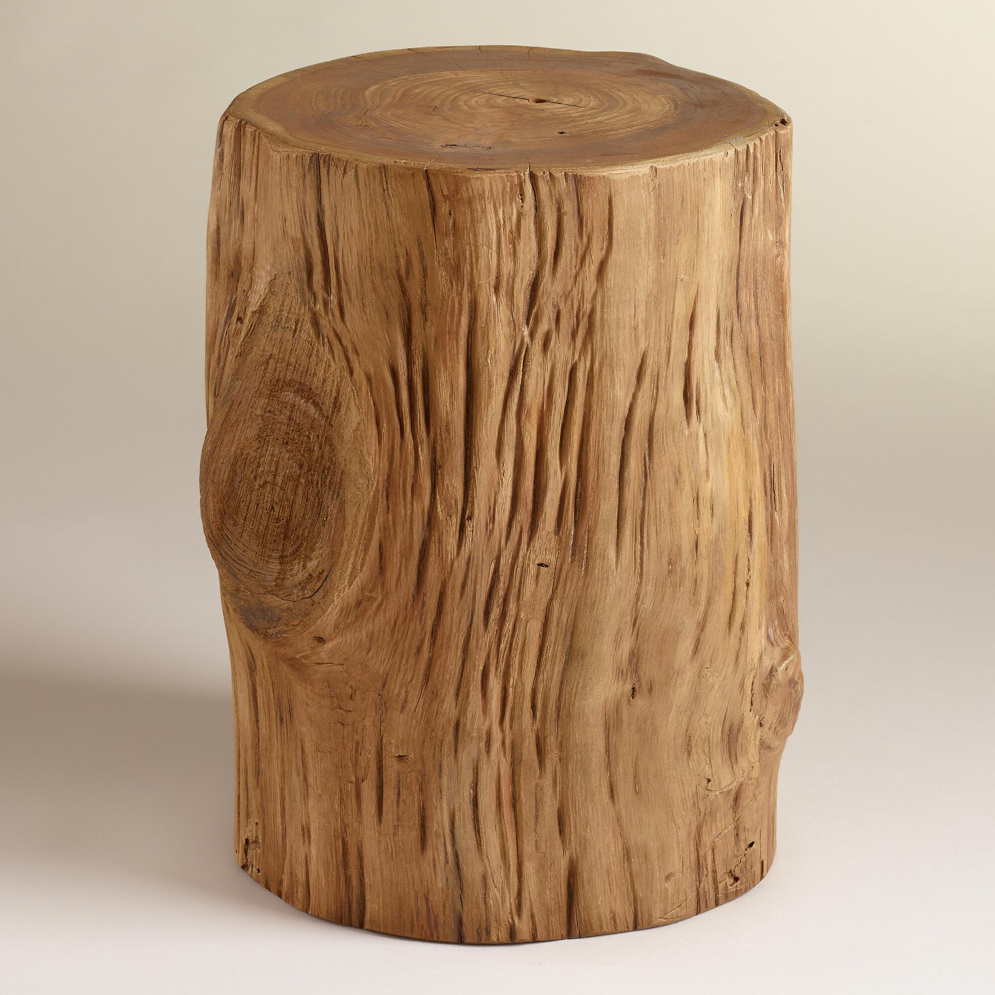 tree stump side table Teak Tree Stump Table | World Market tree stump side table