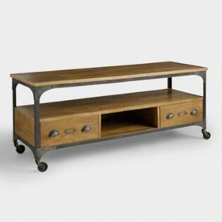 Wood and Metal Aiden Storage Cabinet. Wood and Metal Aiden Console Table   World Market
