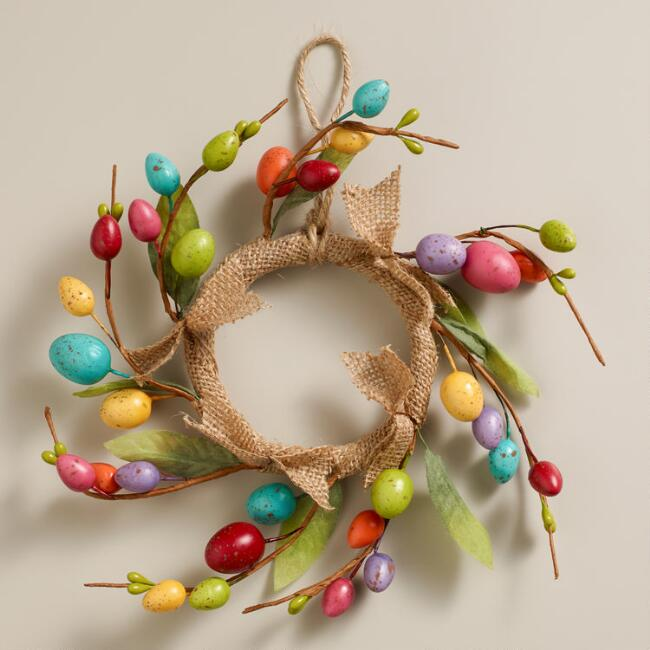Mini Speckled  Egg Wreath