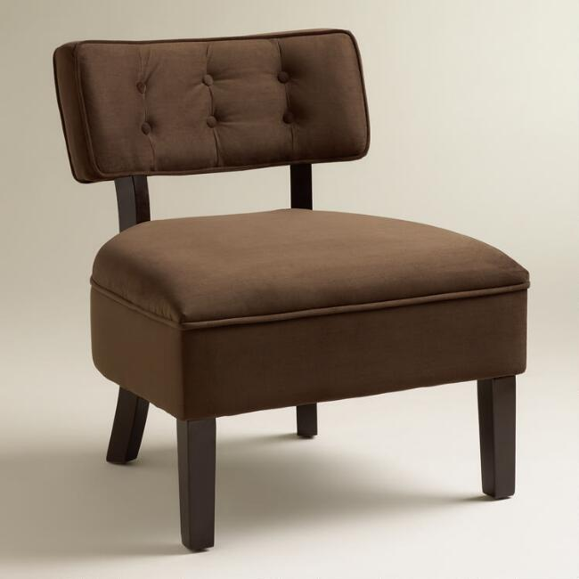 Chocolate Velvet Logan Chair