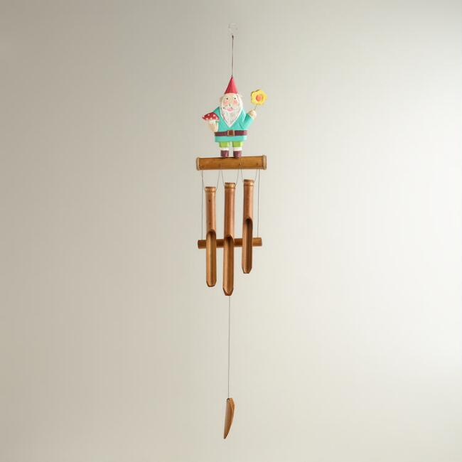 Wood Gnome Wind Chime