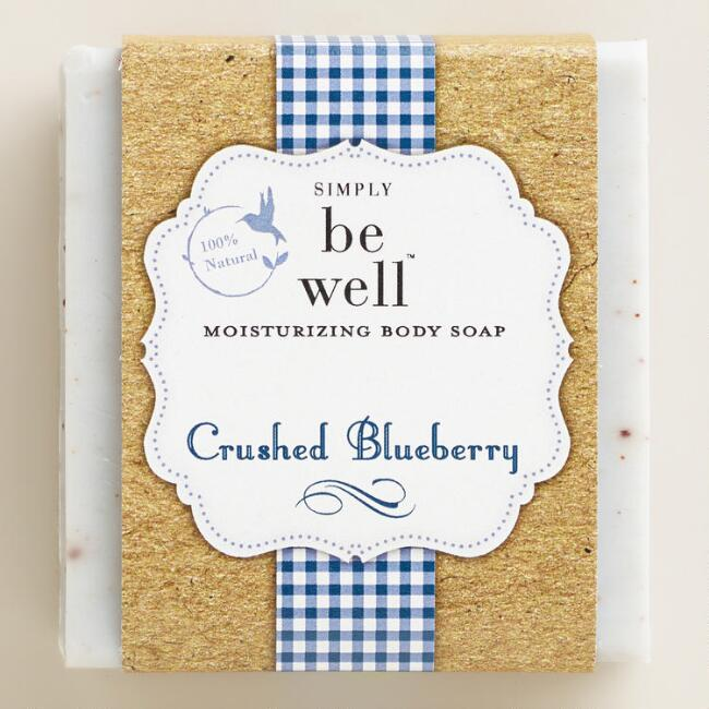 Be Well Crushed Blueberry Bar Soap