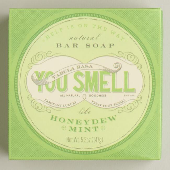You Smell Honeydew and Mint Bar Soap