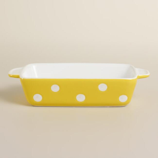 Mini Rectangular Yellow Dots Baker