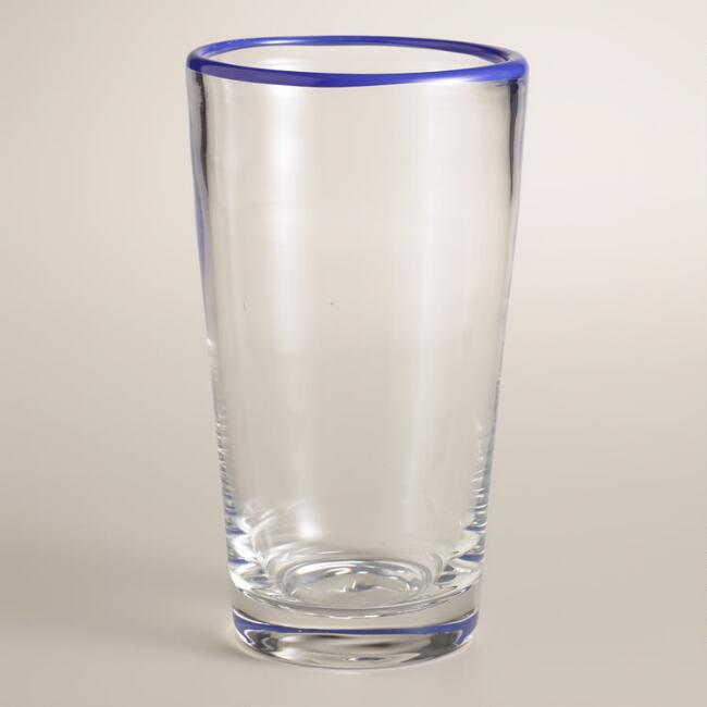 Cobalt Rimmed Tumblers, Set of 4