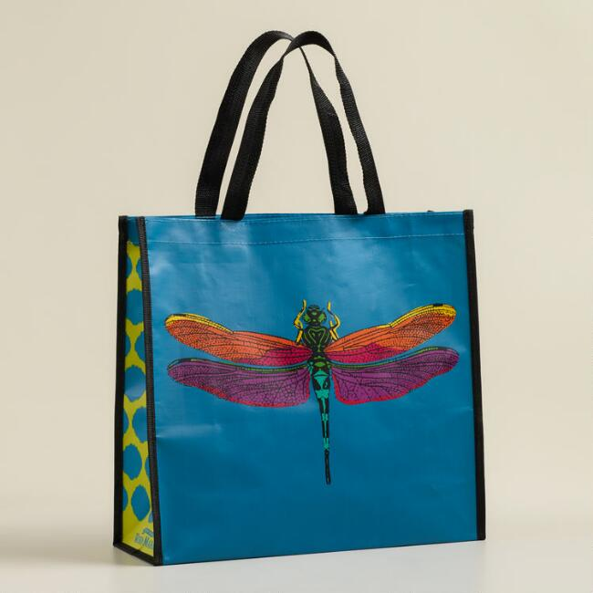 Dragonfly Print Reusable Tote