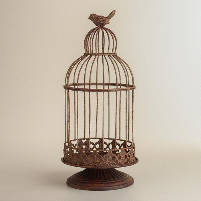 Bronze Birdcage with Bird