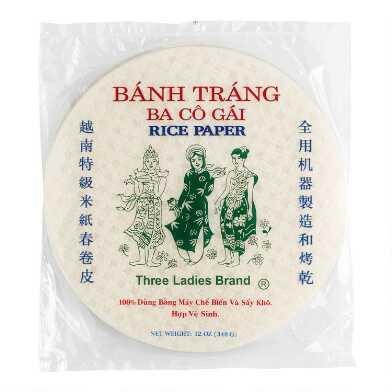 Three Ladies Spring Roll Rice Paper 32 Count Set of 11