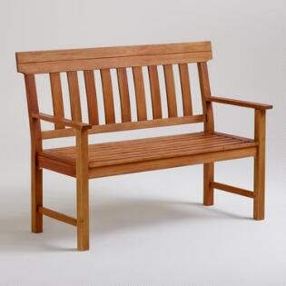 Dining room benches banquettes settees world market for World market beer garden table
