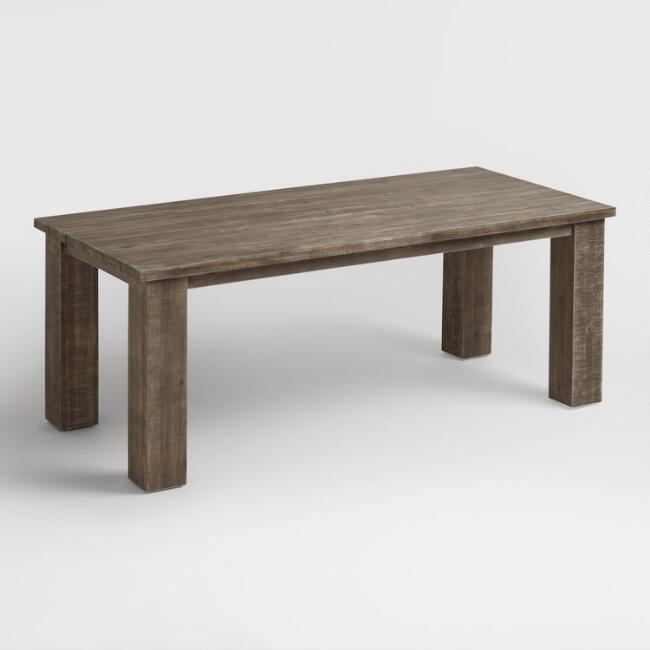 . Wood San Paolo Dining Table   World Market
