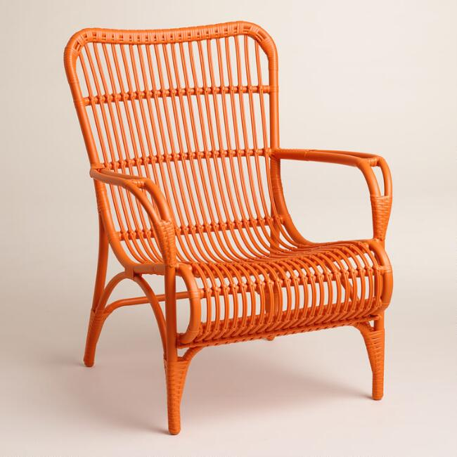 Orange Hanalei Occasional Chairs, Set of 2