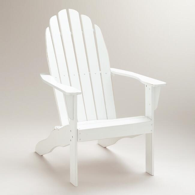 Antique White Classic Adirondack Chair