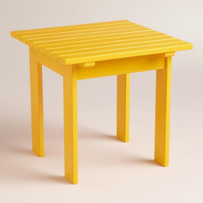 Golden Rod Yellow Classic Adirondack Side Table