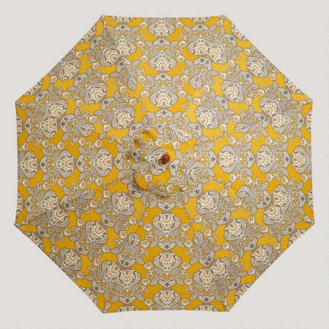 9' Yellow Goddess Umbrella Canopy