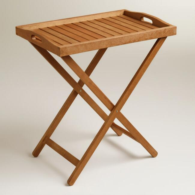 Outdoor Wood Tray Table