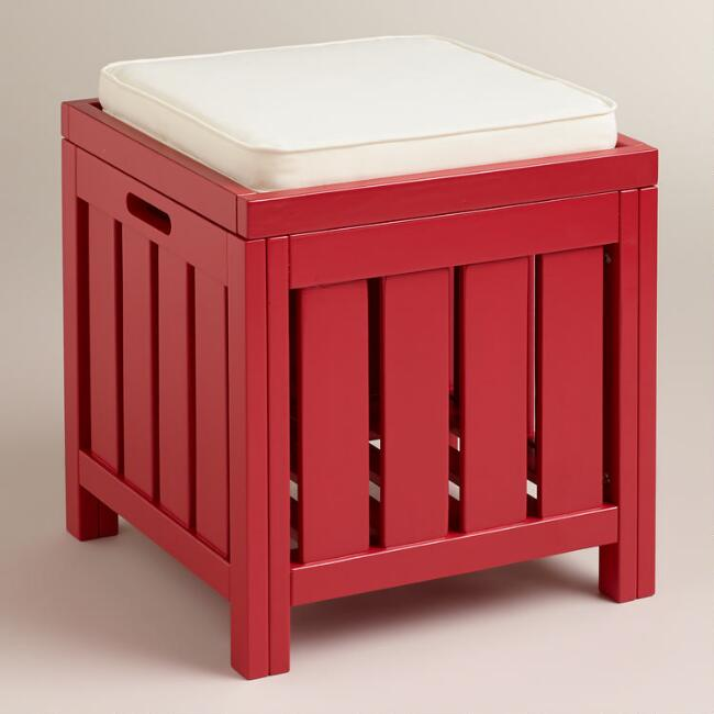 Pompeian Red Storage Stool