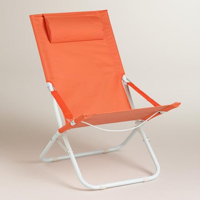 Koi Orange Beach Chair