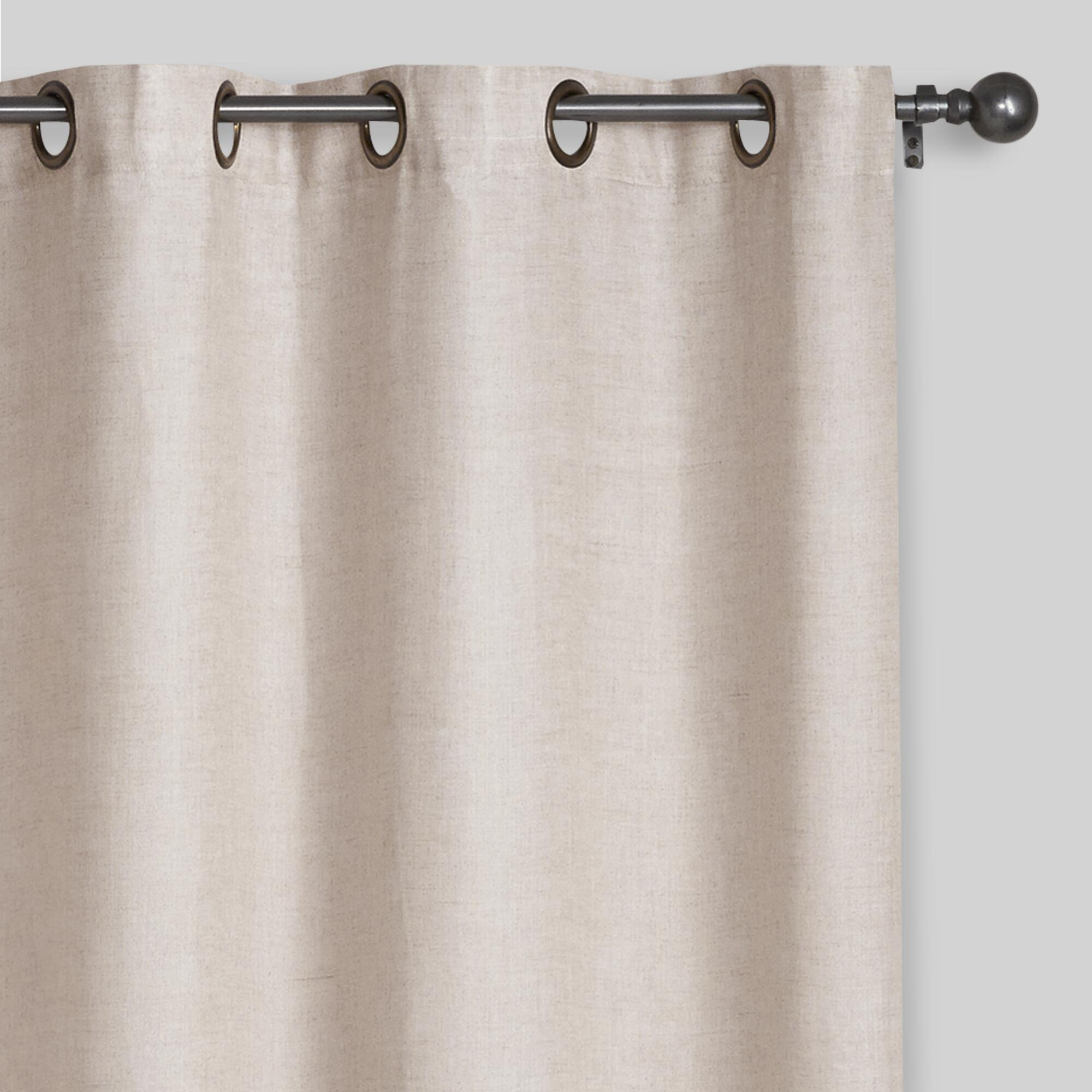 Threshold linen grommet sheer curtain panel product details page - Natural Linen Grommet Top Curtains Set Of 2