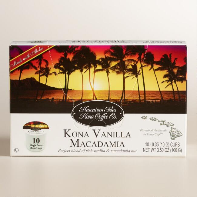 Hawaiian Isles Vanilla Macadamia Kona Single Coffee Cups