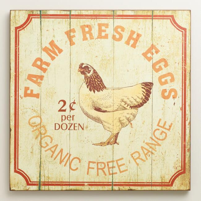 Farm Fresh Eggs Wall Art | World Market