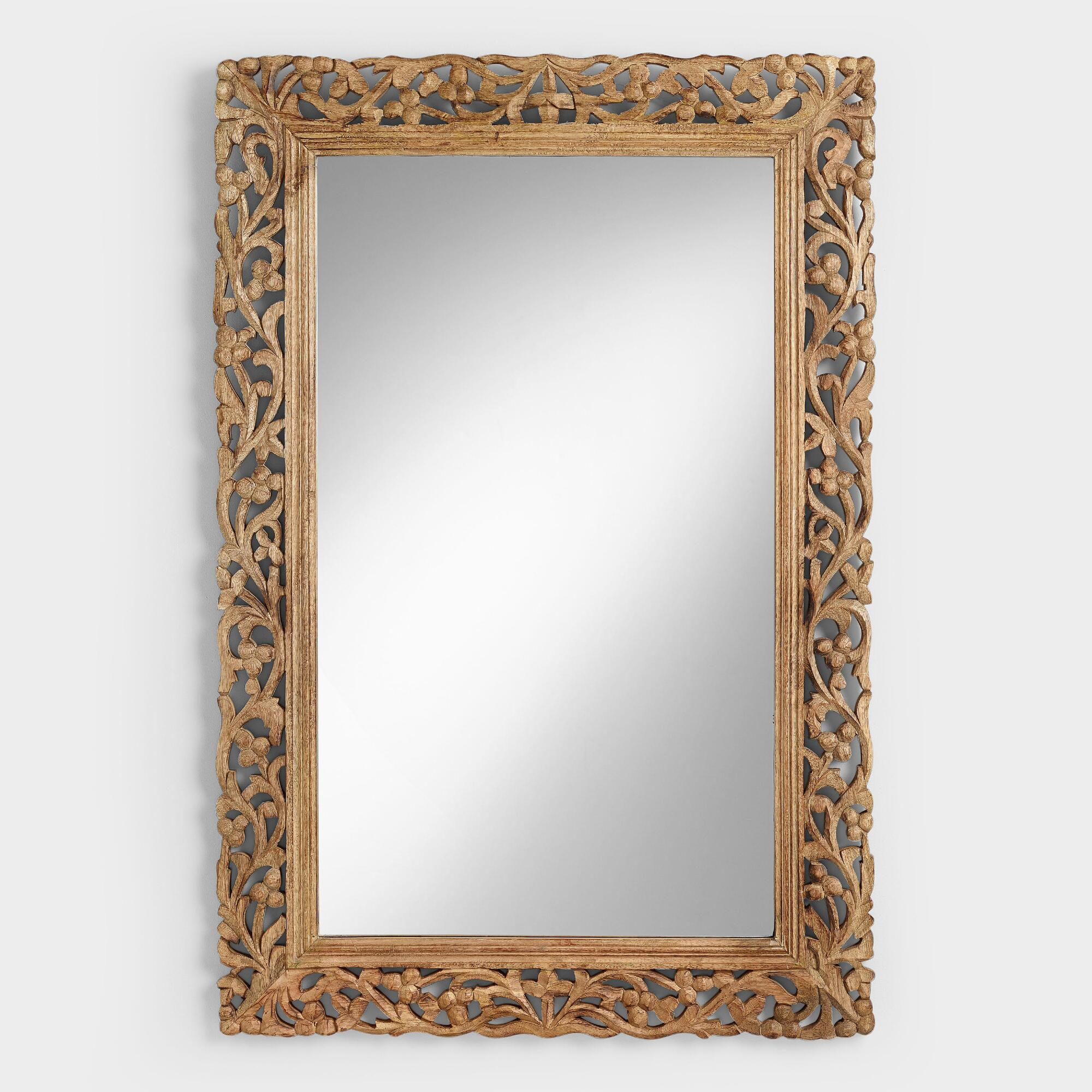 Natural Segovia Mirror - Wood - Large by World Market