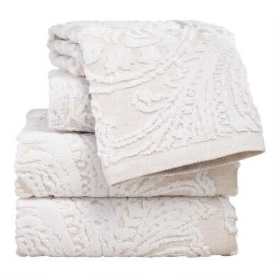 Alexandra Linen Flower Bath Towel Collection