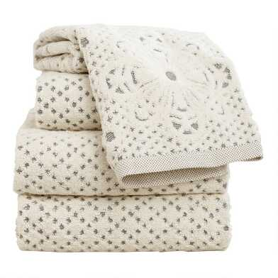 Lattice Sculpted Bath Towel Collection