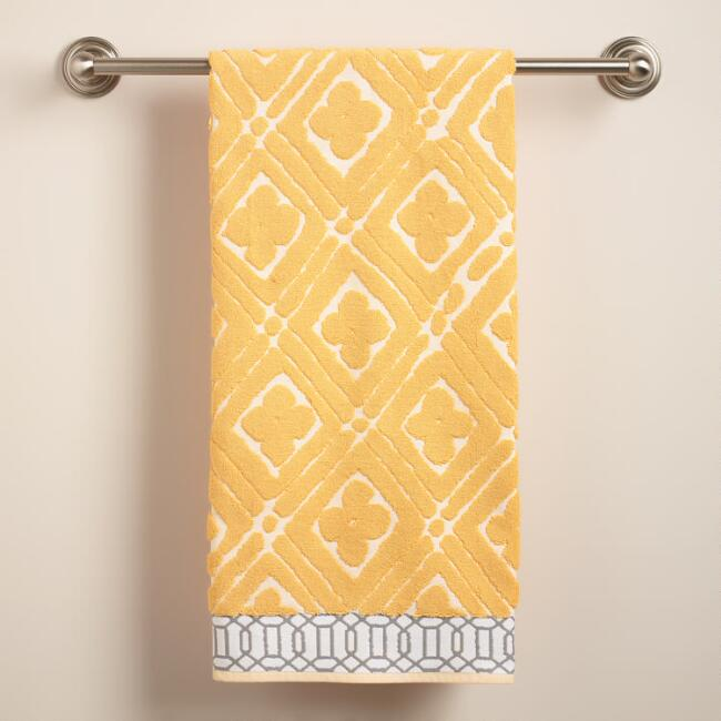 Pioneer Geo Sculpted Bath Towel
