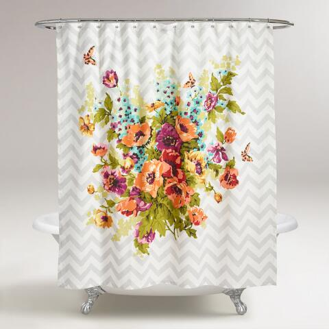 Floribunda Shower Curtain Previous V2 V1