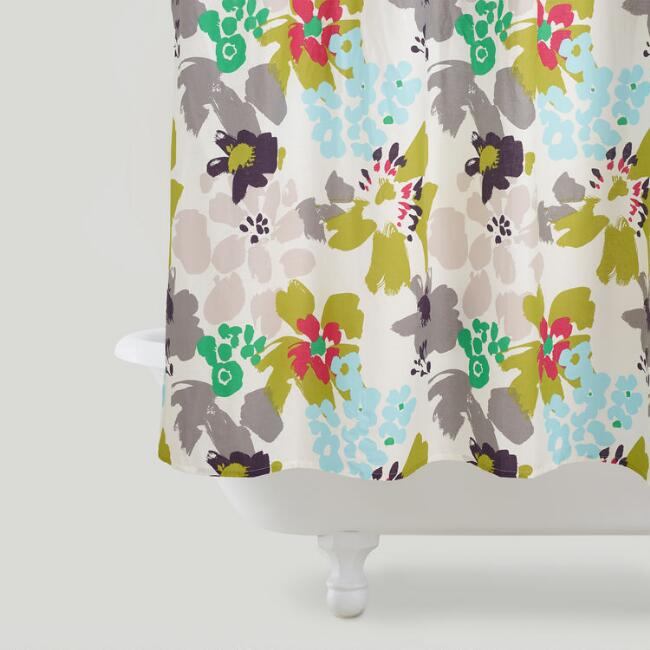Watercolor Daisies Shower Curtain