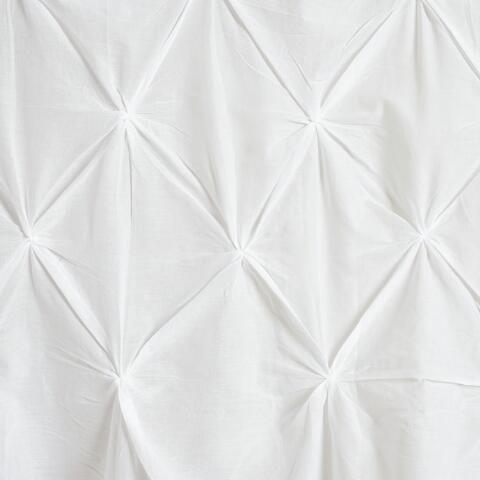 White Pintuck Shower Curtain Previous V3