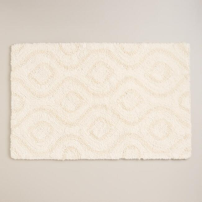 Ivory Ogee Tufted Bath Mat