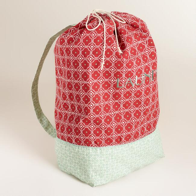 Red Geo Laundry Bag