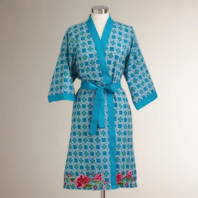 Embroidered Maleah Robe