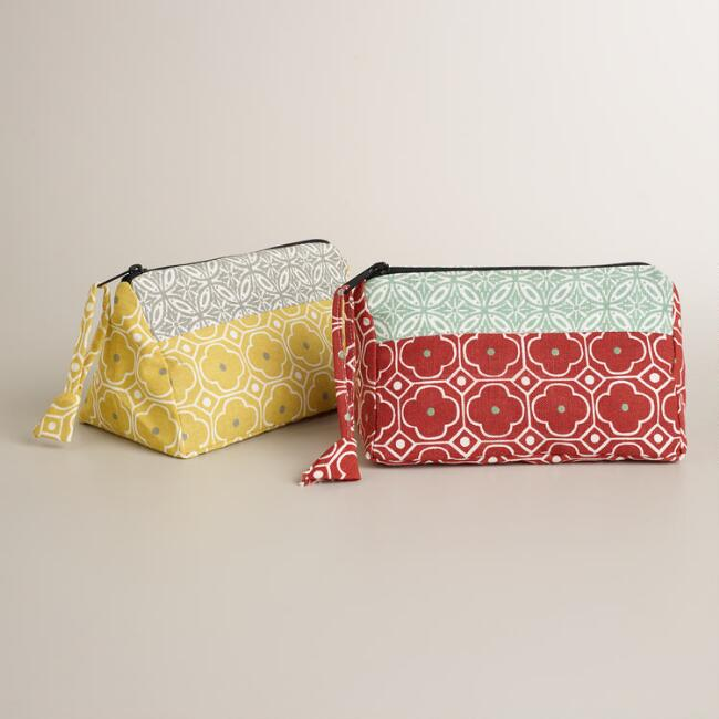 Geo Cosmetic Bags, Set of 2