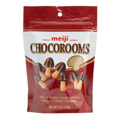 Meiji Chocorooms Milk and Dark Chocolate Cookies