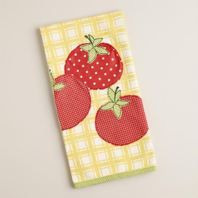 Plaid Tomato Kitchen Towel