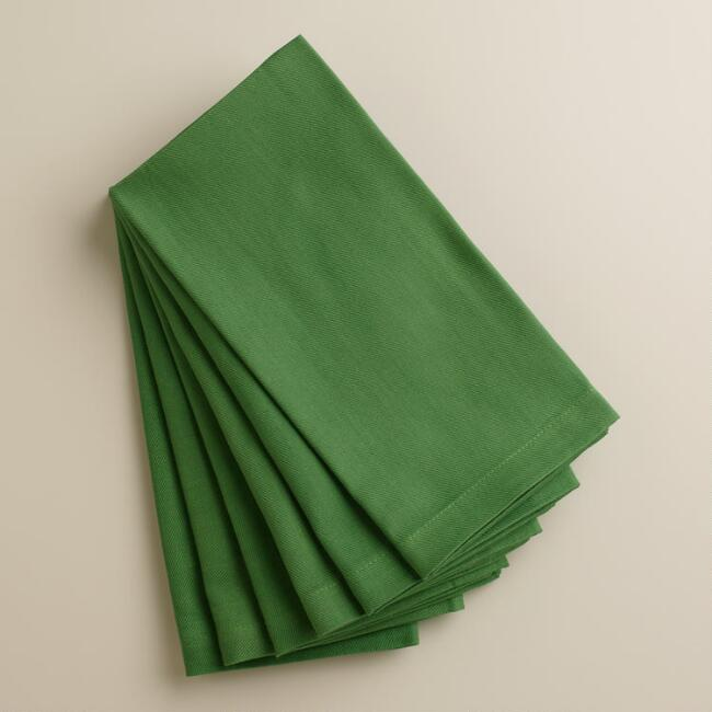 Green Buffet Napkins, Set of 6