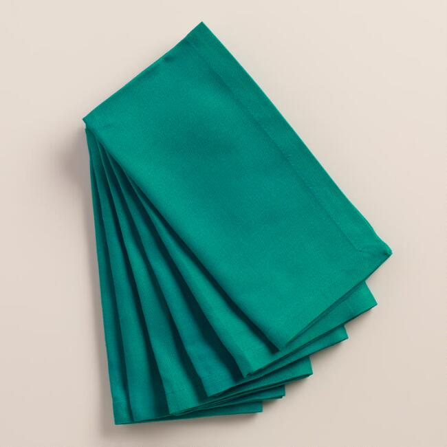 Fanfare Teal Buffet Napkins, Set of 6