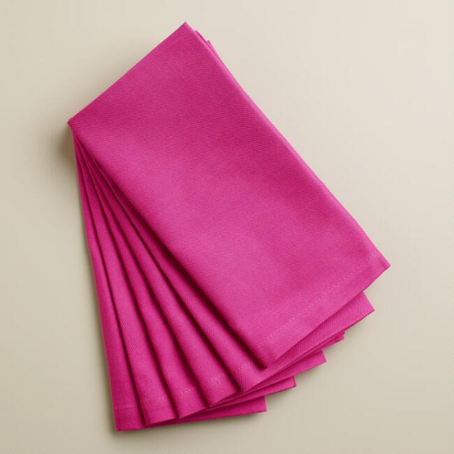 Fuchsia Buffet Napkins, Set of 6