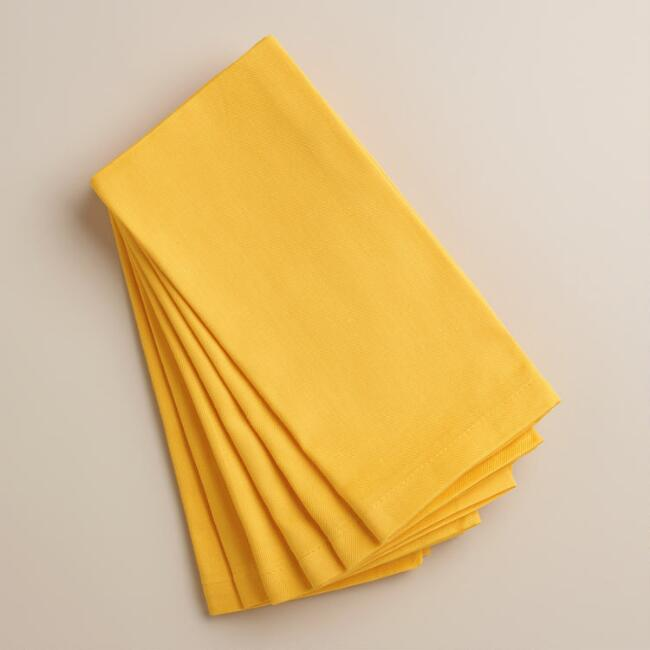 Mimosa Yellow Buffet Napkins, Set of 6