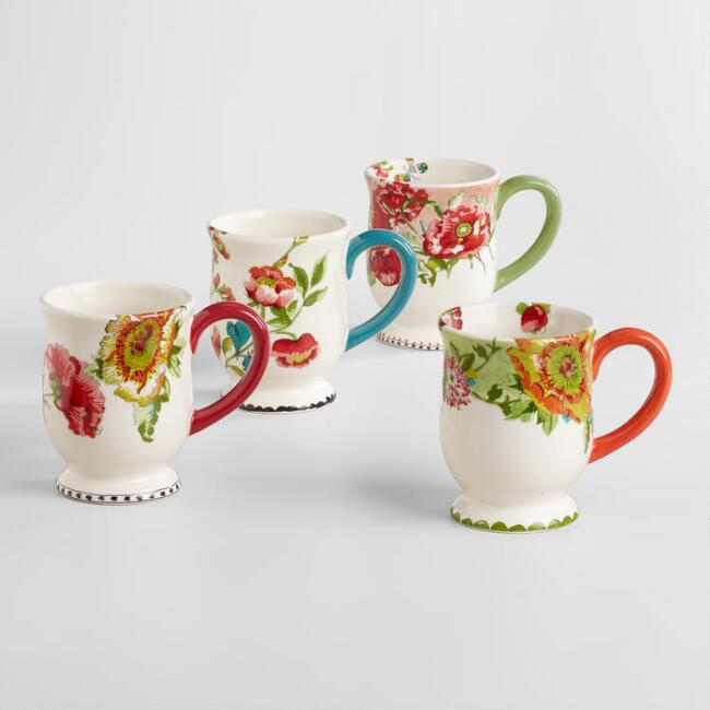 Nomad Flower Mugs Set of 4